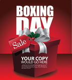 De gelukkige achtergrond van de Tweede kerstdagverkoop Royalty-vrije Stock Foto