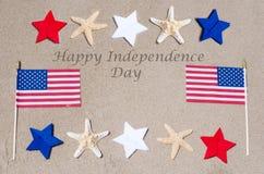 De gelukkige achtergrond van de V.S. van de Onafhankelijkheidsdag Royalty-vrije Stock Foto