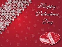 De gelukkige Achtergrond van de Valentijnskaartendag Stock Afbeelding