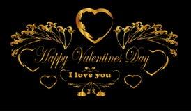 De gelukkige achtergrond van de Valentijnskaartendag Royalty-vrije Stock Afbeeldingen
