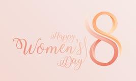 De gelukkige achtergrond van de Vrouwen` s dag Stock Afbeelding