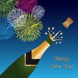 De gelukkige achtergrond van het Nieuwjaar Stock Foto