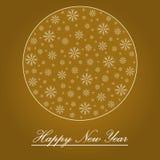 De gelukkige achtergrond van het Nieuwjaar royalty-vrije illustratie