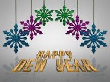 De gelukkige achtergrond van het Nieuwjaar stock illustratie