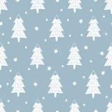 De gelukkige achtergrond van het Nieuwjaar Eenvoudig naadloos retro Kerstmispatroon vector illustratie