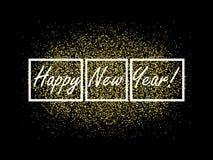 De gelukkige achtergrond van het Nieuwjaar Het ontwerpmalplaatje van de groetkaart Vector illustratie Eps 10 stock illustratie