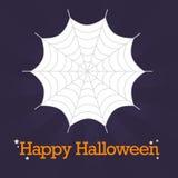 De gelukkige Achtergrond van het Spinneweb van Halloween Stock Illustratie