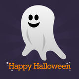 De gelukkige Achtergrond van het Spook van Halloween Stock Afbeeldingen