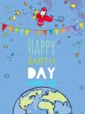 De gelukkige affiche van de Aardedag stock afbeeldingen