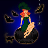 De gelukkige Affiche van Halloween Royalty-vrije Stock Afbeeldingen