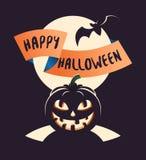 De gelukkige Affiche van Halloween Royalty-vrije Stock Foto