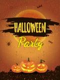 De gelukkige Affiche van Halloween Stock Afbeelding