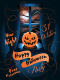 De gelukkige Affiche van Halloween Vector illustratie Royalty-vrije Stock Afbeelding