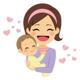 De gelukkige Baby van de Holding van de Moeder vector illustratie