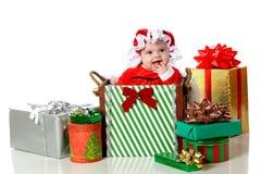De gelukkige Baby van Kerstmis Royalty-vrije Stock Foto's