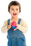 De gelukkige ballen van de Jongen Royalty-vrije Stock Foto