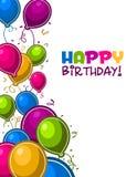 De gelukkige Ballons van de Verjaardag Stock Afbeeldingen
