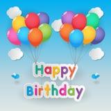 De gelukkige Ballons van de Verjaardag Stock Foto's