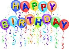 De gelukkige Ballons van de Verjaardag/eps Royalty-vrije Stock Afbeeldingen