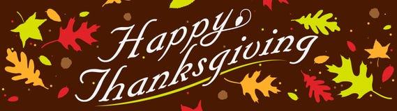 De gelukkige Banner van de Dankzegging Stock Foto