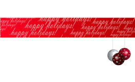 De gelukkige Banner van de Vakantie Stock Afbeelding