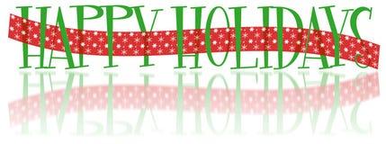 De gelukkige Banner van de Vakantie Stock Foto