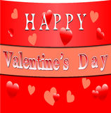 De gelukkige banner van de valentijnskaartendag Royalty-vrije Stock Foto