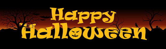 De gelukkige Banner van Halloween Royalty-vrije Stock Afbeelding