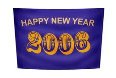 De gelukkige banner van het Nieuwjaar Stock Afbeeldingen