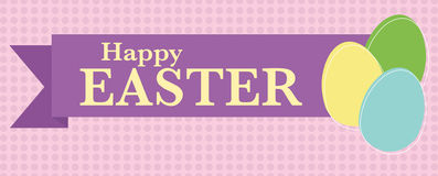 De gelukkige Banner van Pasen stock illustratie
