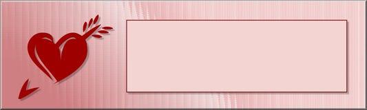 De gelukkige Banner van Valentijnskaarten Stock Fotografie