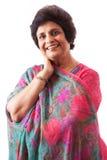 De gelukkige Bejaarde Indische Dame van het Oosten royalty-vrije stock foto