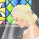 De gelukkige bruid van Nice stock illustratie
