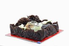 De Gelukkige Cake Bitrthday van de chocolade Stock Foto's