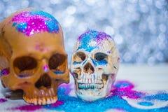 De gelukkige close-up van het de partijbeeld van schedelhalloween Stock Foto's