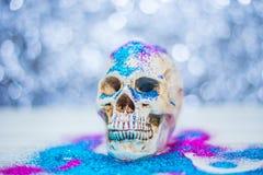 De gelukkige close-up van het de partijbeeld van schedelhalloween Royalty-vrije Stock Fotografie