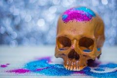 De gelukkige close-up van het de partijbeeld van schedelhalloween Royalty-vrije Stock Afbeelding