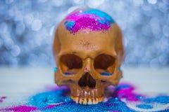 De gelukkige close-up van het de partijbeeld van schedelhalloween Royalty-vrije Stock Foto