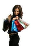 De gelukkige consument Stock Fotografie