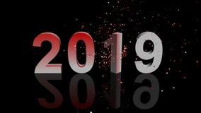 De gelukkige 3d animatie van 2010 vector illustratie