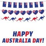 De gelukkige Dag van Australië, groetkaart stock foto