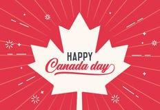 De gelukkige Dag van Canada, eerst van juli Vector illustratie als achtergrond Canadese vlagkleuren en vormen Retro stijl vector illustratie