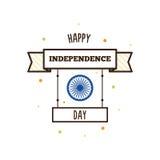 De gelukkige Dag van de Onafhankelijkheid Vector illustratie Royalty-vrije Stock Foto's