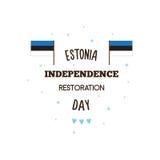 De gelukkige dag van de onafhankelijkheidsrestauratie Vector illustratie Royalty-vrije Stock Afbeelding