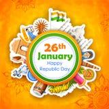 De gelukkige Dag van de Republiek van de achtergrond van India Royalty-vrije Stock Afbeelding