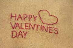 De gelukkige Dag van de Valentijnskaart Stock Foto's