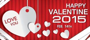 De gelukkige dag van de Valentijnskaart Stock Foto