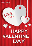 De gelukkige dag van de Valentijnskaart Stock Afbeelding
