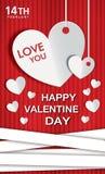 De gelukkige dag van de Valentijnskaart Royalty-vrije Stock Fotografie