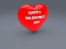 De gelukkige Dag van de Valentijnskaart die op het hart wordt geschreven Stock Afbeelding